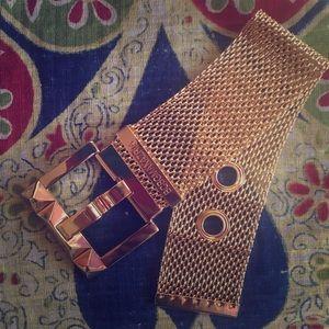 BCBG Belt Style Mesh Bracelet
